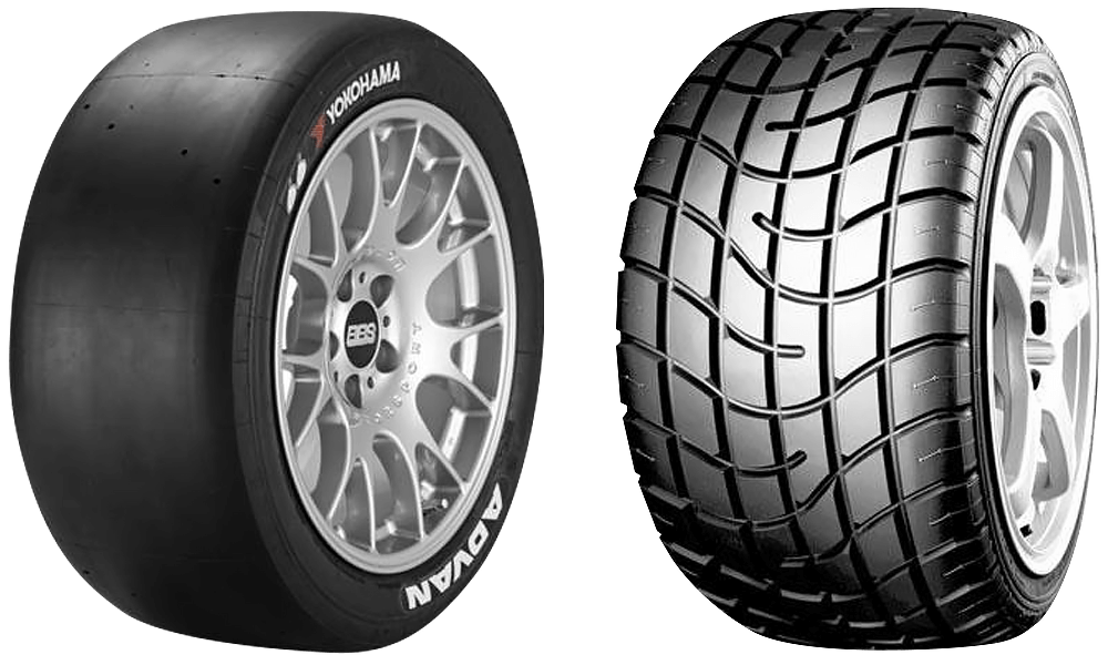 Yokohama Advan A005 and Advan A006 racing tyres.png